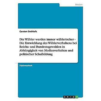Die Whler werden immer whlerischer Die Entwicklung des Whlerverhaltens bei Reichs und Bundestagswahlen i Abhngigkeit von Medienverhalten und politischer Schulbildung af Dethlefs & Carsten