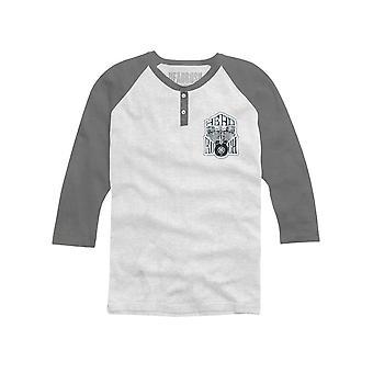 Headrush Mens HR Members Only 3/4 Sleeve Shirt - White/Gray - mma training