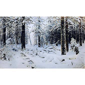 الشتاء,إيفان شيشكين, 60x37cm