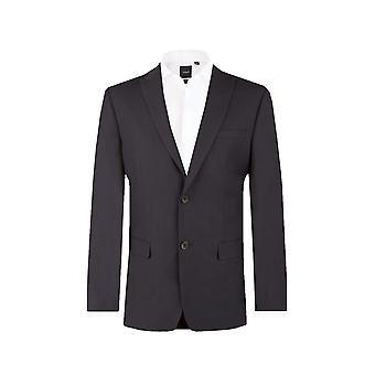 Dobell męskie Black jodełkę pasek garnitur kurtka Regular Fit szczyt klapy