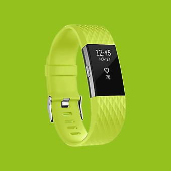 For Fitbit batch 2 plastic / silicone bracelet for women / size S green clock