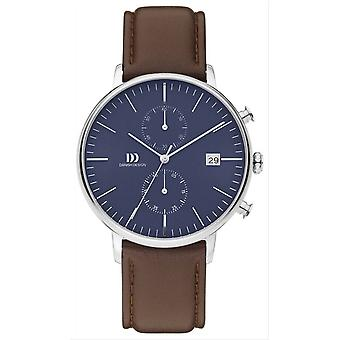 Deens design Tidlos Koltur Chrono Watch-bruin/Rose goud