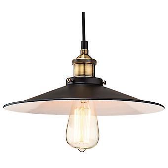 Firstlight - 1 Light Ceiling Pendant Black, Antique Brass - 3471BK