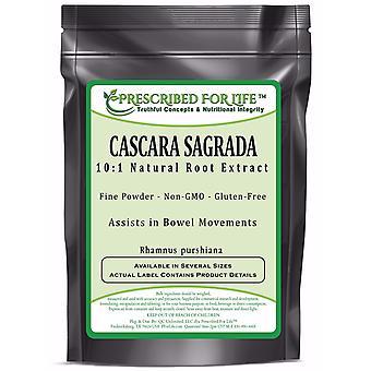 Cascara Sagrada - 10:1 Natural Root Extract Powder (Rhamnus purshiana)