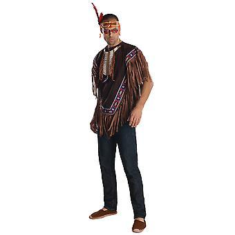 Nativo americano Guerrero indio occidental noble libro semana adulto traje de hombre