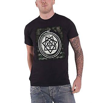 Logotipo oficial da banda HIM Mens T camisa preta álbum símbolos cobra