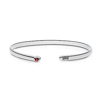 Southern Methodist University Engraved Sterling Silver Ruby Cuff Bracelet
