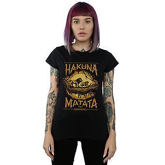 Disney Women's The Lion King film Hakuna matata T-shirt