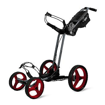 Sun Mountain Pathfinder 4 ruedas Push Cart Golf Trolley Magnetic Grey/Red