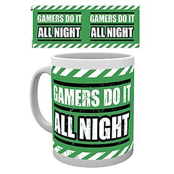 Gaming All Night Boxed Drinking Mug