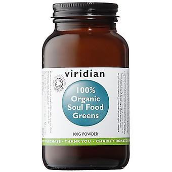 Viridian Soul Food Greens Powder Organic 100g (282)