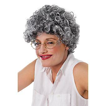 Bristol nyhet Womens/damergammal dam lockig peruk