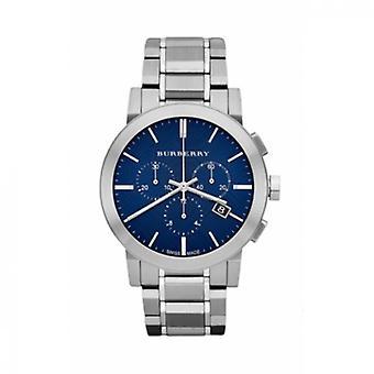 Burberry Bu9363 chronographe cadran bleu en acier inoxydable Menâs Watch