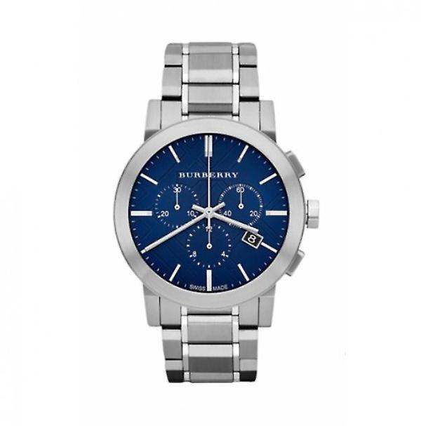 Burberry Bu9363 Chronograph Blue Dial Stainless Steel Men's Watch
