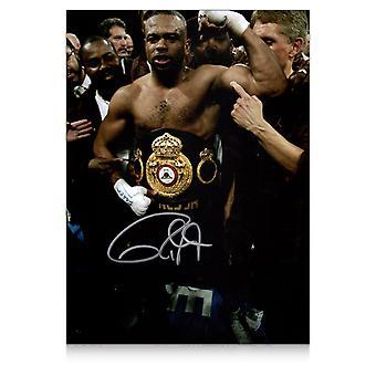 Roy Jones Jr Signed Boxing Photo: Heavyweight Champion