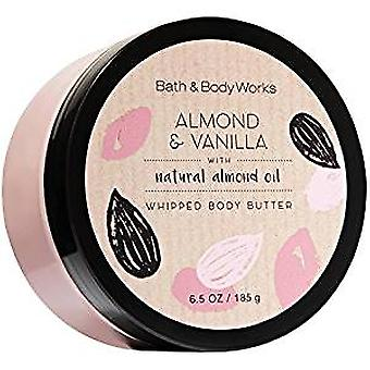Bath & Body Works Almond & Vanilla Whipped Body Butter 6.5 oz / 185 g (Pack of 2)