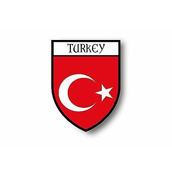 Sticker Adesivo Moto Auto Blason Città Turchia Turchia Bandiera