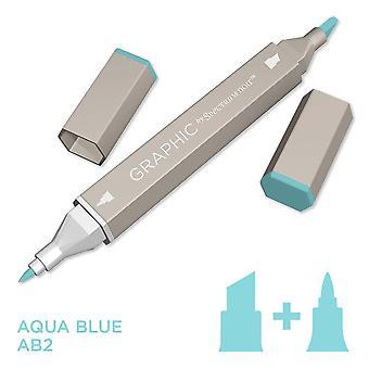 Graphic by Spectrum Noir Single Pens - Aqua Blue