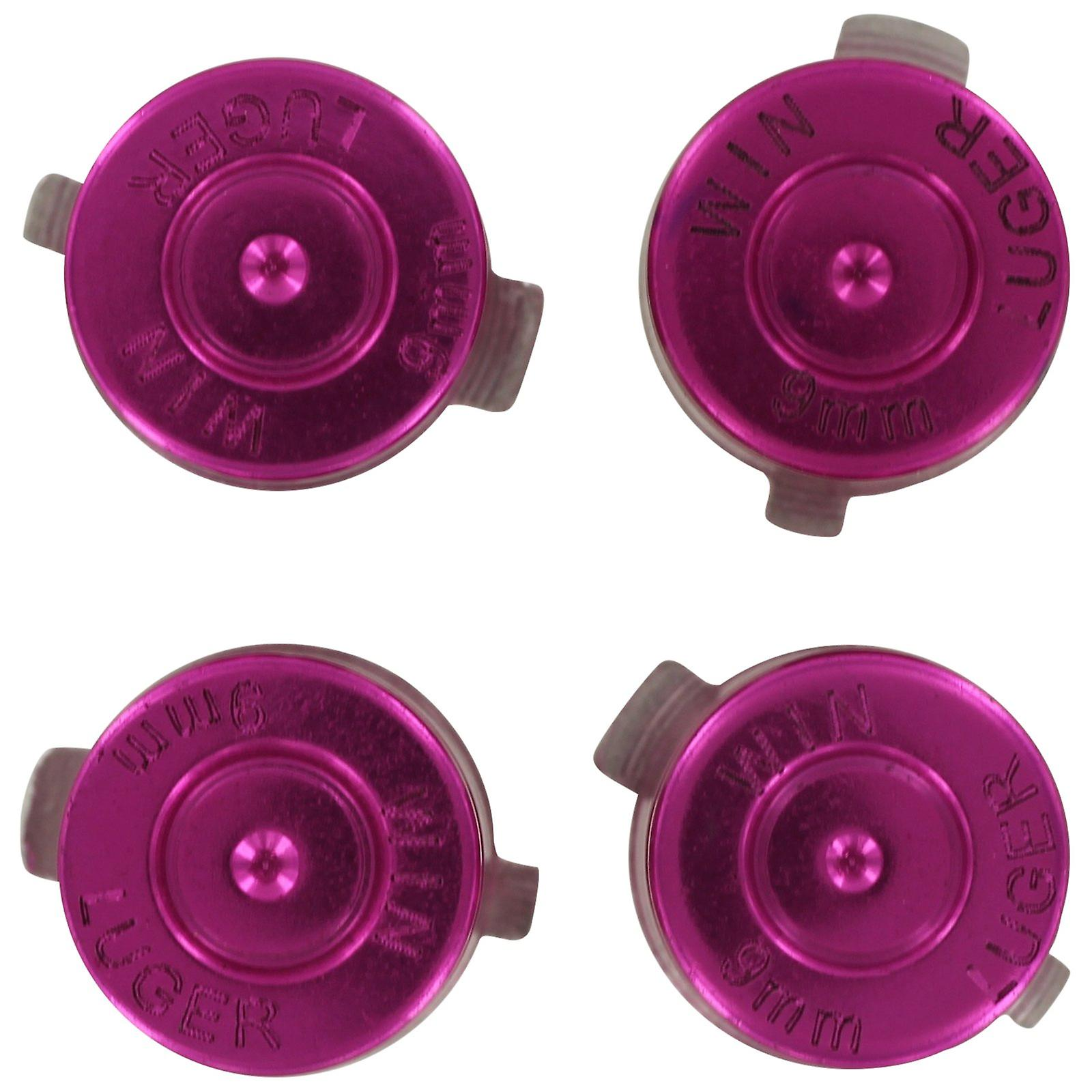Aluminium metal action bullet button set for sony ps4 controllers - pink