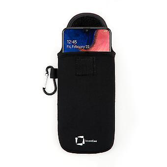 InventCase Neoprene Protector Pouch Case para Samsung Galaxy A20e 2019 - Negro