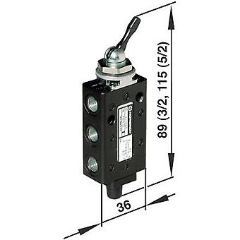 Norgren mekaniskt manövrerad pneumatisk ventil 03040302 Kapslingsmaterial aluminium 1 st (s)