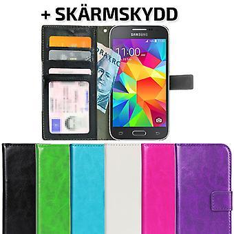 Samsung Galaxy Core Prime Wallet case + screen protector