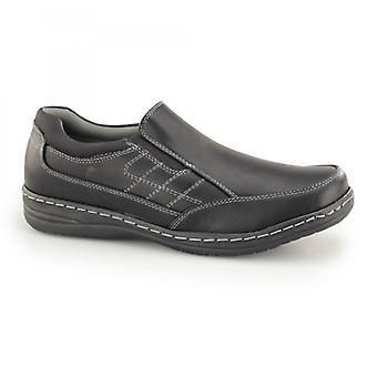 Dr Keller Bacup Mens Slip On Wide Fit Loafers Black