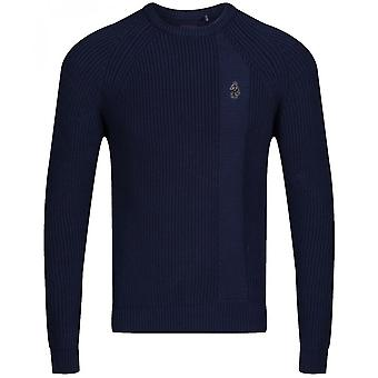 Luke 1977 Splorton 2 Knitted Navy Sweater