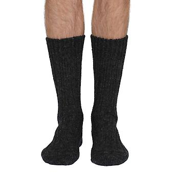 Donegal men's warm 100% wool boot sock charcoal | seriouslysillysocks