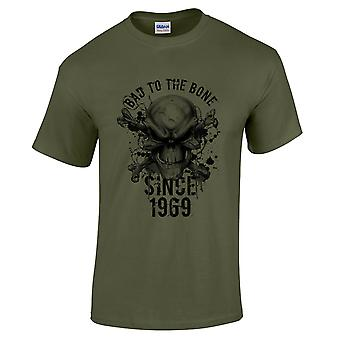 Men's 50th Birthday T-Shirt Bad To The Bone 1969 Prezenty dla niego