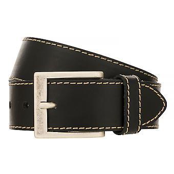 BERND GÖTZ belts men's belts leather belt black 501
