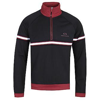 Zwarte sweater met ritssluiting, Armani Exchange