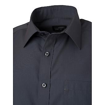 James og Nicholson Mens Shortsleeve Poplin skjorte
