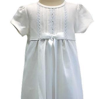 Dopklänning Grace Of Sweden, I Lin, Smal  Vit Rosett.  Tr.a.k