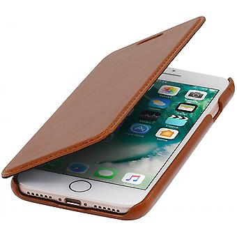 Case For iPhone 8 / Iphone 7 Book Type Cognac In True Leather Without Closing Clip