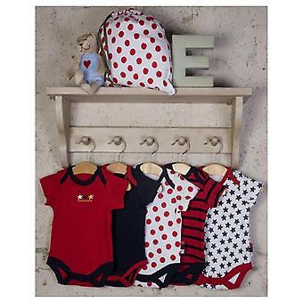 De Essentiële One Baby Unisex Nautische Spot Bodysuits - 5 Pack
