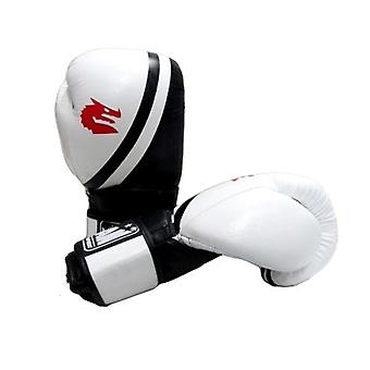 Morgan V2 Professional Leather Boxing Gloves White Black
