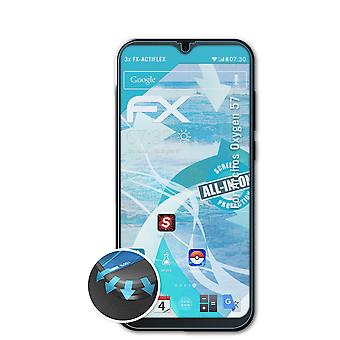 atFoliX 3x Protective Film compatible with Archos Oxygen 57 Screen Protector clear&flexible