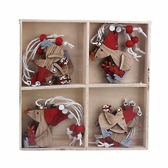 جيزيلا غراهام مربع من 12 زخارف الفئران الخشبية
