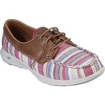 Skechers النساء Gowalk لايت بيتش بيتش الدانتيل حتى الأحذية عارضة