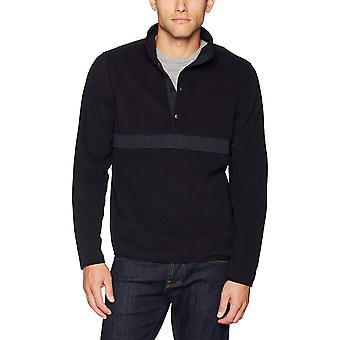 Starter menn ' s Polar fleece snap-krage Pullover jakke,, svart, størrelse stor