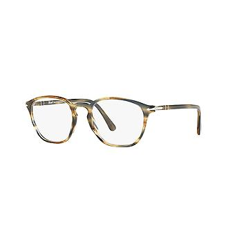 Persol PO3178V 1049 Stripped Brown Grey Glasses