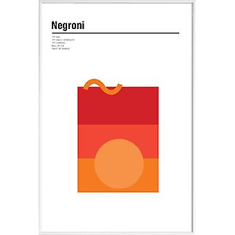 JUNIQE Print - Negroni - Cocktails Poster in White & Red