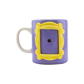 Friends Picture Frame Shaped Ceramic Mug with Monica's Yellow Peephole 330ml