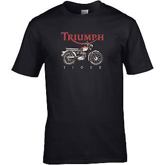 Triumph Tiger Farge - Motorsykkel Motorsykkel Biker - DTG Trykt T-skjorte