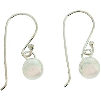 TOC Girls Sterling Silver Ball Bead (5mm) Drop Earrings 16mm