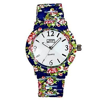 Eton Blue Chintz Floral Print Bracelet Fashion Watch 3174J-BL
