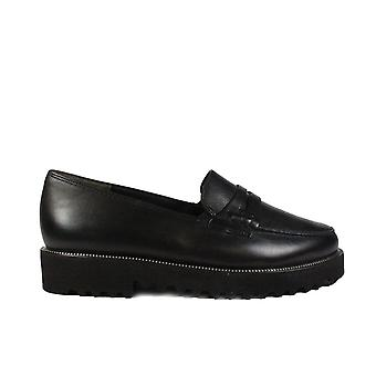 Paul Green 1011-10 musta nahka naisten slip on loafer kengät