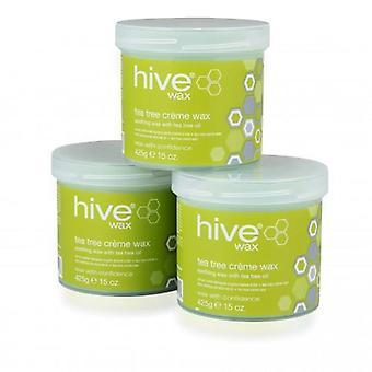 Hive tea tree crème wax 425g - 3 voor 2 pack