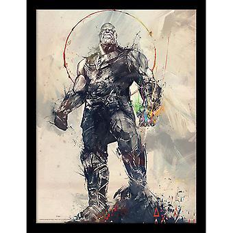 Avengers Infinity War Thanos Skizze gerahmt Platte 30 * 40cm